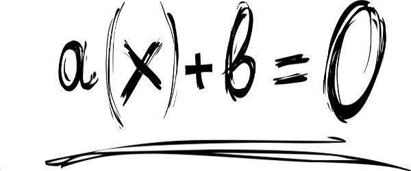 Representação geral de uma equação do primeiro grau.