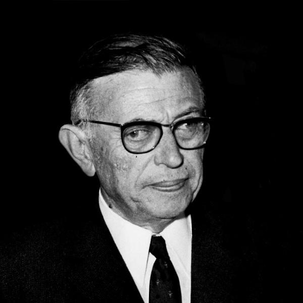 Jean-Paul Sartre, um importante nome da filosofia existencialista. [1]