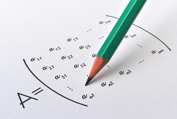 Representação genérica de uma matriz n x m.