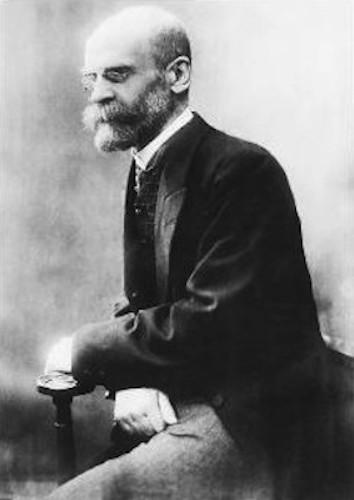 Émile Durkheim, o primeiro sociólogo.