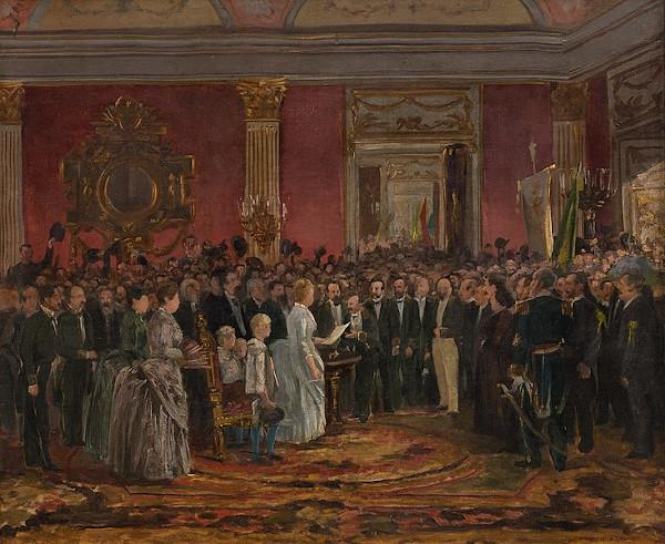 """""""Abolição da escravatura"""" (1888), obra do pintor romântico Victor Meirelles (1832-1903)."""