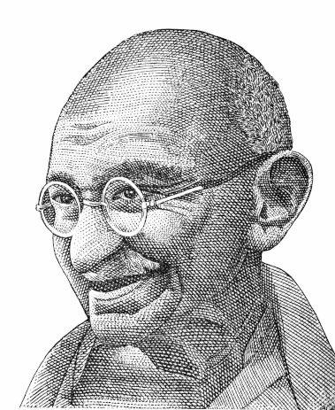 O ativista indiano Mahatma Gandhi é considerado um dos maiores realizadores de ação de desobediência civil na história.