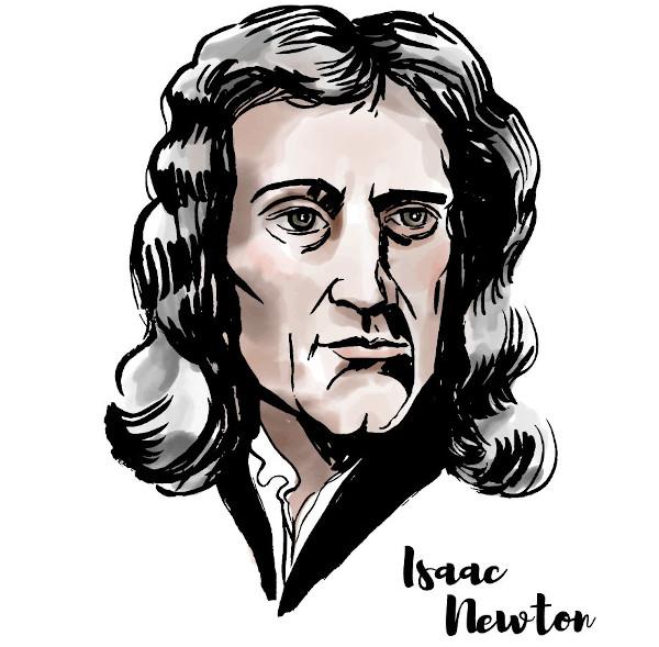 Isaac Newton foi físico e matemático e fez grandes contribuições para as duas áreas.
