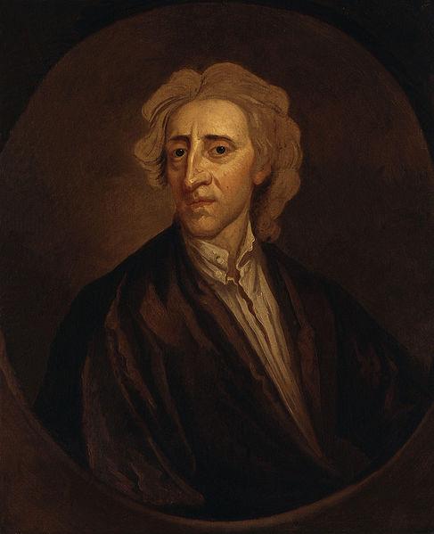 John Locke, um dos filósofos contratualistas.