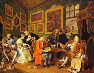 O Contrato de Casamento, de William Hogarth, representando a nobreza do período feudal.