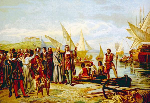 Em 3 de agosto de 1492, Cristóvão Colombo zarpou de Palos de la Frontera em direção ao oeste.