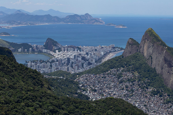 Mata Atlântica no Parque Nacional da Tijuca, Rio de Janeiro.