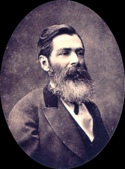 O escritor José de Alencar, provavelmente em 1870.