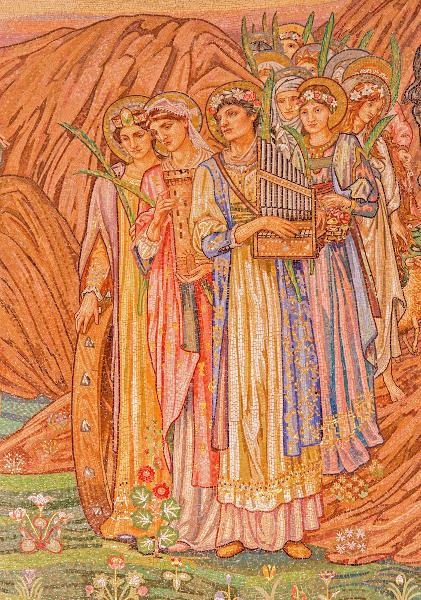 Edward Burne-Jones, pintor inglês que, à época do parnasianismo, retomou, na pintura, os temas de influência clássica. [1]