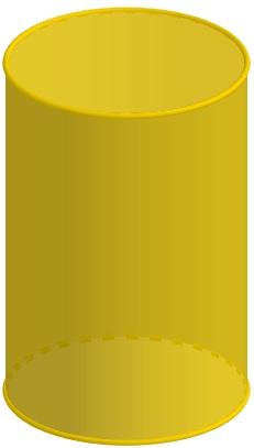 O cilindro é um corpo redondo.