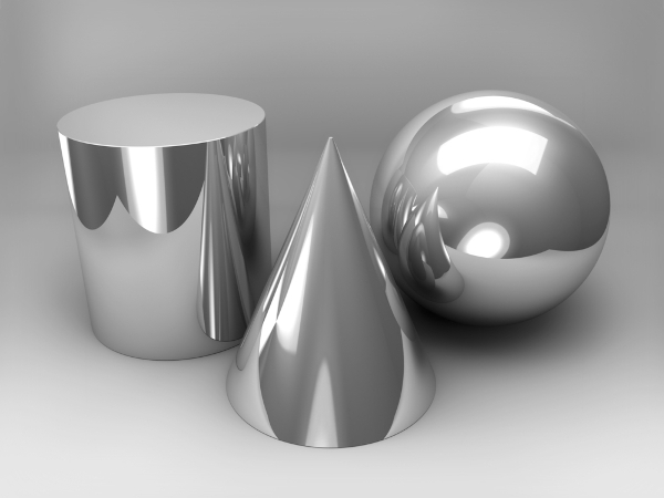 O cilindro o cone e a esfera são corpos redondos.