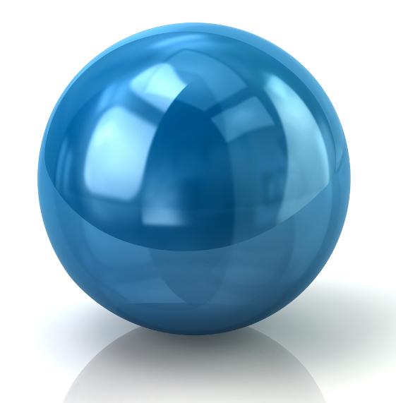 A esfera é um corpo redondo construído a partir da rotação de um círculo