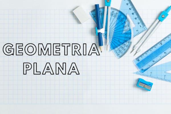 A geometria plana é a área da matemática que estuda as figuras planas.