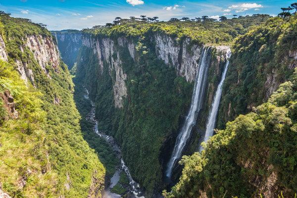 Cânion Itaimbezinho, em Cambará do Sul, no Rio Grande do Sul.