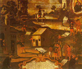 A Guerra dos Emboabas envolveu paulistas e estrangeiros pelo domínio da região das minas no início do século XVIII.