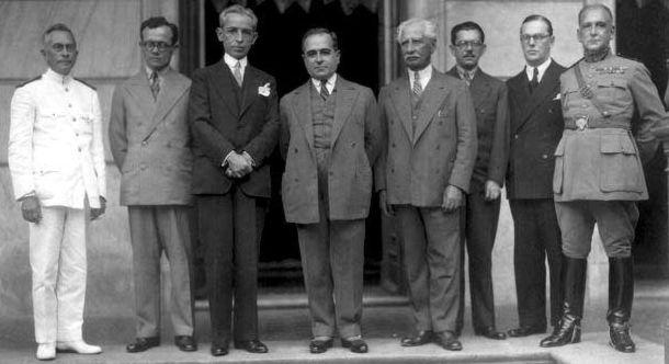 Getúlio Vargas e alguns dos seus ministros em 1931, primeiro ano do governo provisório.
