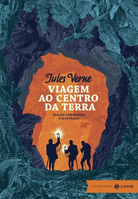 Capa do livro Viagem ao centro da Terra, de Júlio Verne, publicado com o selo Clássicos Zahar, do Grupo Companhia das Letras. [1]