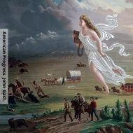 pintura nomeada Progresso Americano de John Gast