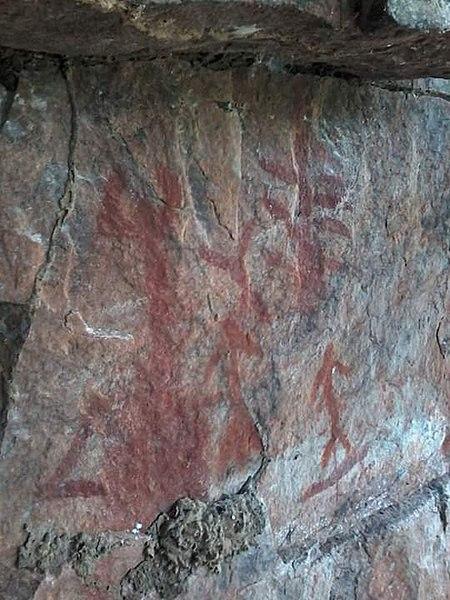 Exemplo de pintura rupestre.[3]