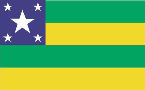 Bandeira de Sergipe, o menor estado brasileiro.