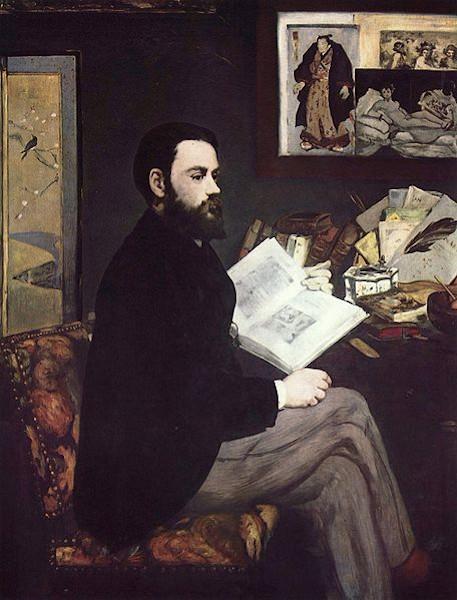 """""""Retrato de Émile Zola"""", obra de Édouard Manet (1832-1883)."""
