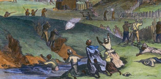 Pintura representando a revolta de escravos