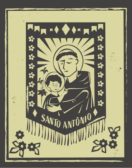 """Santo Antônio é conhecido como o """"santo casamenteiro""""."""