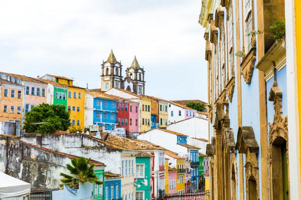 Foto do centro histórico da cidade de Salvador, Bahia, Brasil.