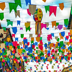 Bandeirolas festa junina