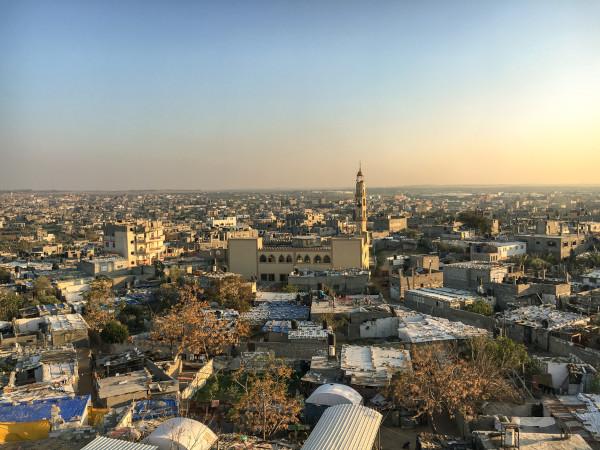 Imagem aérea de parte da Cidade de Gaza.