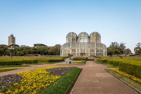 Foto do Jardim Botânico de Curitiba.