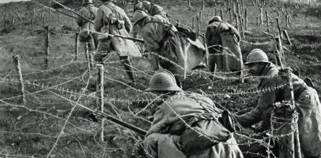 soldados em guerra