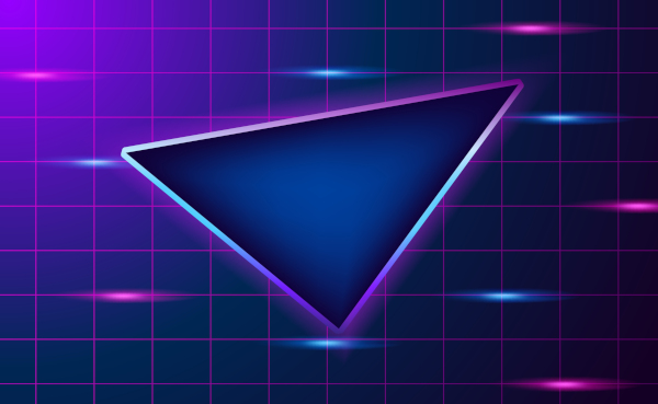 O triângulo é um polígono de três lados.
