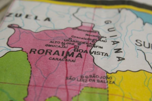 Mapa de Roraima.