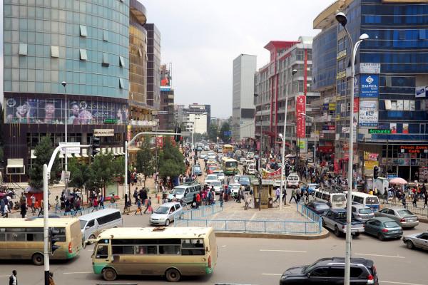 Região central da capital etíope, Adis Abeba.[1]