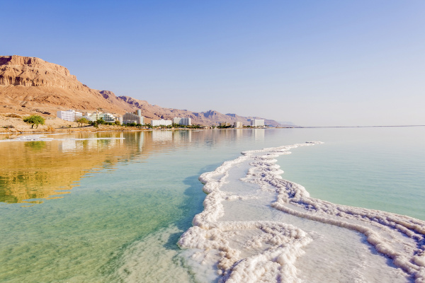 Foto da depressão do Mar Morto.