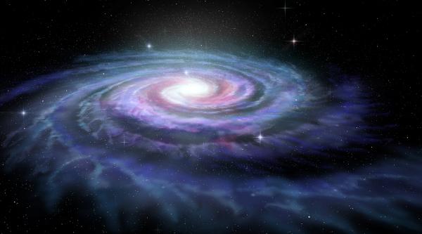 Via Láctea, uma galáxia espiral.