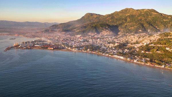 Vista aérea do Haiti