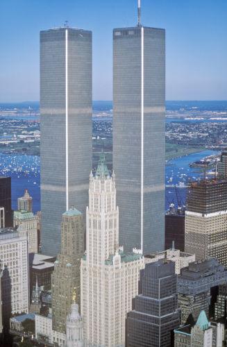 Fotografia das duas torres do World Trade Center
