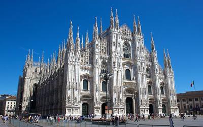 A Catedral de Milão é um exemplo da arte gótica na arquitetura.