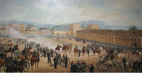 Proclamação da República, de Benedito Calixto.