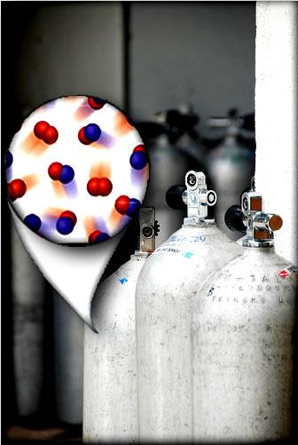 A pressão total e o volume total de uma mistura gasosa são dados pelas pressões e volumes parciais dos gases que compõem a mistura