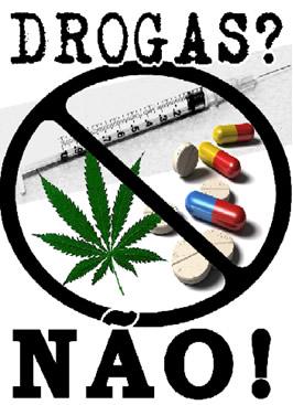 Cartaz de campanha contra as drogas