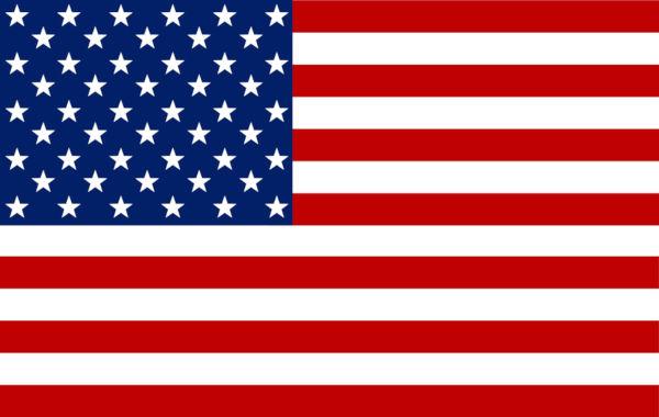 As 13 faixas da bandeira dos Estados Unidos representam as Treze Colônias, e as estrelas representam os 50 estados.