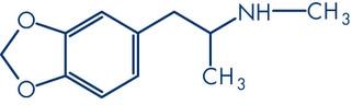 Fórmula estrutural do ecstasy