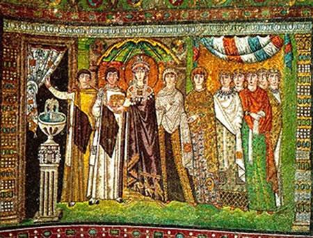 Imperadora Teodora - Mosaico Bizantino
