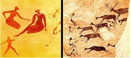 Leveza, movimento e traços nas pinturas do Período Neolítico