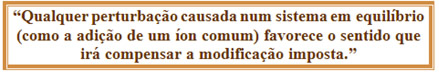 Definição do princípio de Le Chatelier