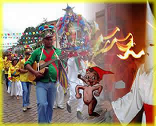 Festa de Reis, Procissão do Fogaréu e Saci-Pererê