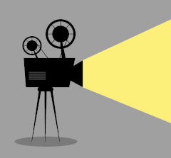 Ilustração de projetor de filmes